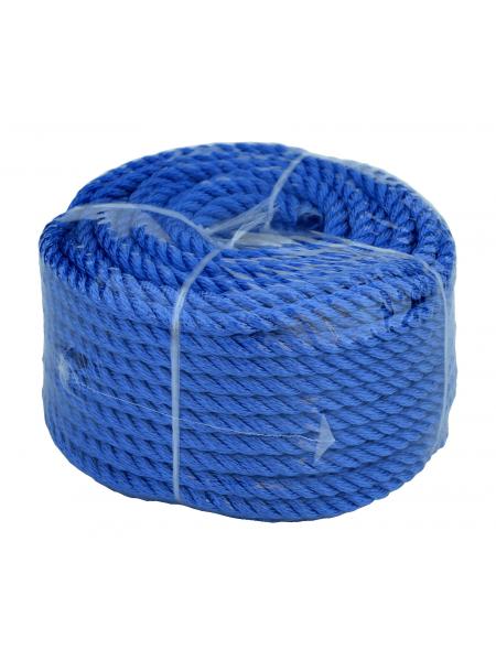 Веревка 30м 8мм, синяя, полиэстер, универсальная