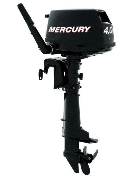 Подвесной мотор Mercury F 4 M  (4хтактный, мощность 4 л.с.)
